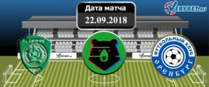 Ахмат – Оренбург 22 сентября 2018 прогноз