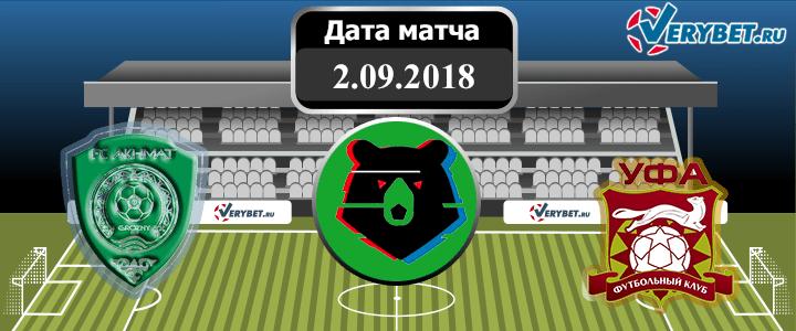 Ахмат – Уфа 2 сентября 2018 прогноз
