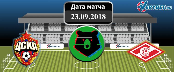 ЦСКА – Спартак 23 сентября 2018 прогноз