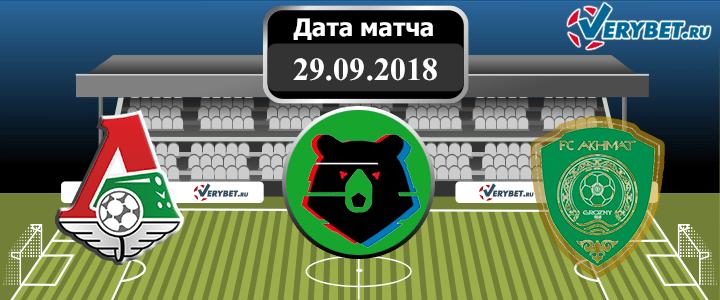 Локомотив – Ахмат 29 сентября 2018 прогноз