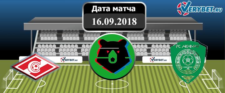 Спартак – Ахмат 16 сентября 2018 прогноз