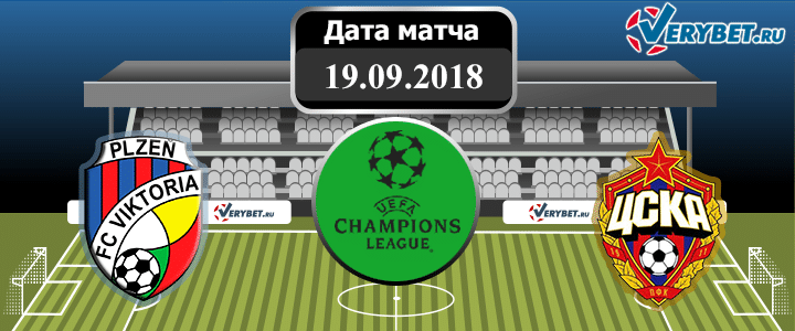 Виктория Пльзень – ЦСКА 19 сентября 2018 прогноз