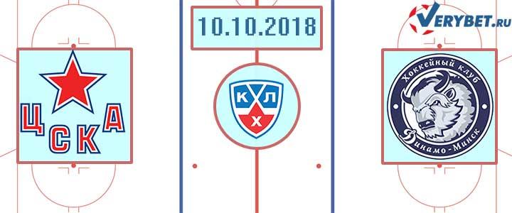 ЦСКА – Динамо Москва 10 октября 2018 прогноз