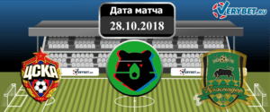 ЦСКА – Краснодар 28 октября 2018 прогноз