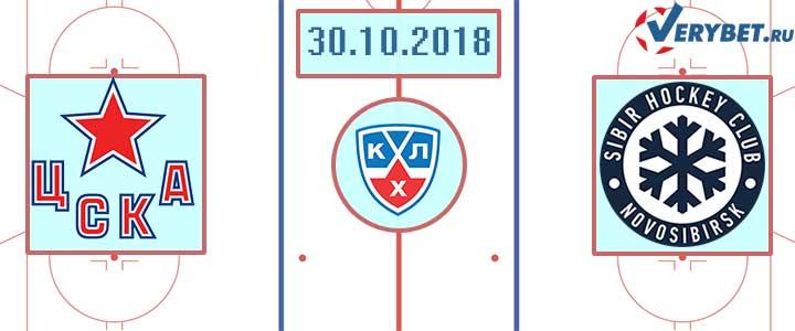 ЦСКА – Сибирь 30 октября 2018 прогноз