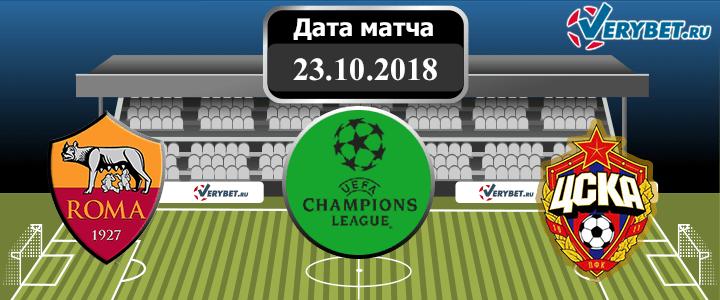 Рома – ЦСКА 23 октября 2018 прогноз