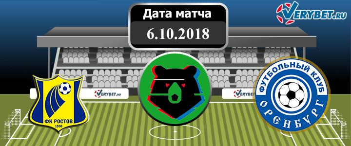 Ростов – Оренбург 6 октября 2018 прогноз