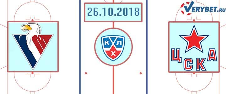 Слован – ЦСКА 26 октября 2018 прогноз
