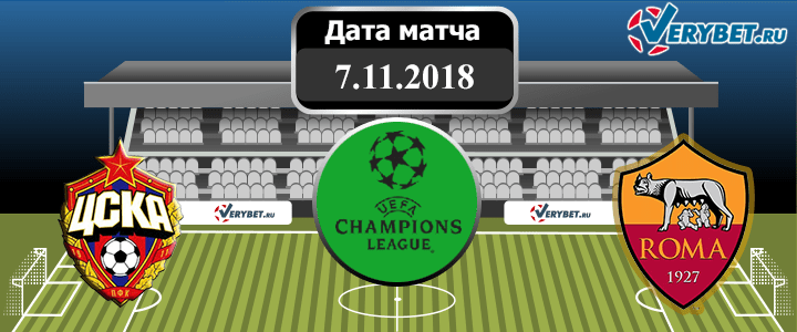 ЦСКА – Рома 7 ноября 2018 прогноз