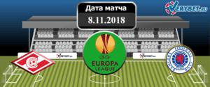 Спартак - Рейнджерс 8 ноября 2018 прогноз