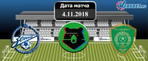 Зенит – Ахмат 4 ноября 2018 прогноз
