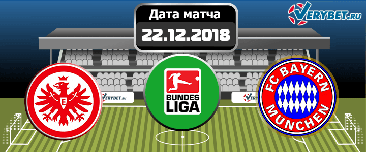 Айнтрахт – Бавария 22 декабря 2018 прогноз