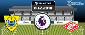 Анжи - Спартак Москва 8 декабря 2018 прогноз