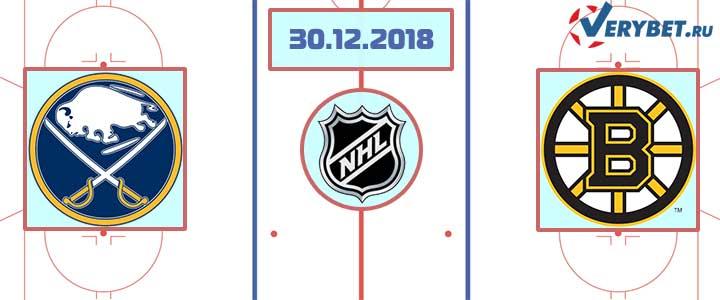 Баффало — Бостон 30 декабря 2018 прогноз