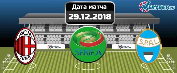 Милан — СПАЛ 29 декабря 2018 прогноз