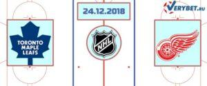 Торонто — Детройт 24 декабря 2018 прогноз