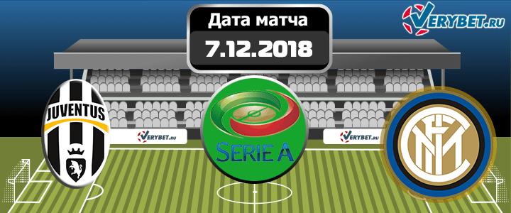 Ювентус - Интер 7 декабря 2018 прогноз