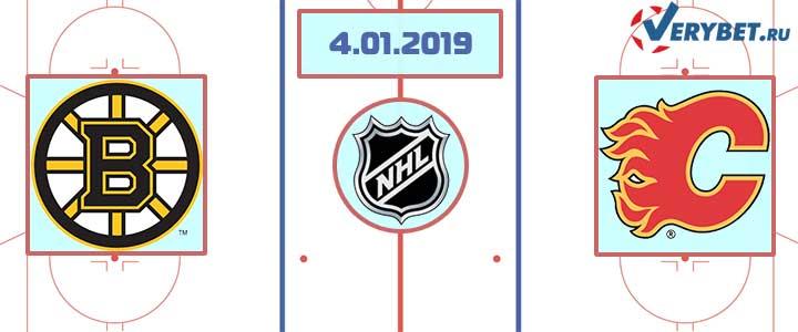 Бостон — Калгари 4 января 2018 прогноз
