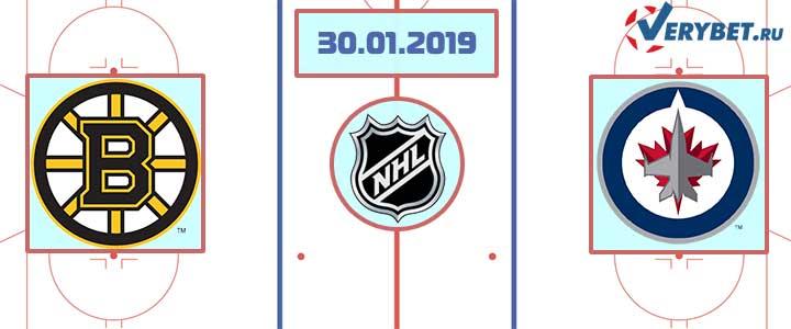 Бостон — Виннипег 30 января 2019 прогноз