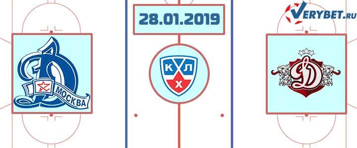 Динамо Москва – Динамо Рига 28 января 2019 прогноз