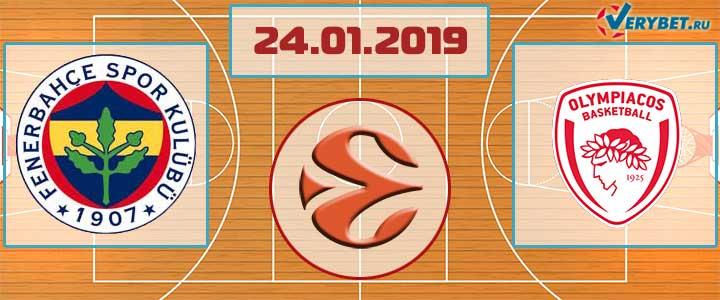 Фенербахче – Олимпиакос 24 января 2019 прогноз
