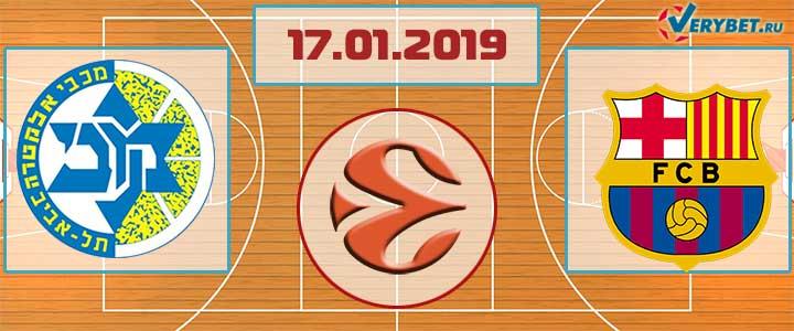 Маккаби Тель-Авив – Барселона 17 января 2019 прогноз