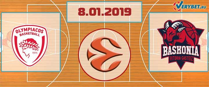 Олимпиакос – Баскония 8 января 2019 прогноз