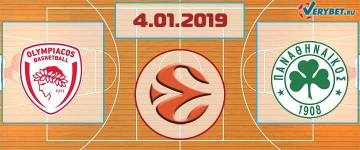 Олимпиакос – Панатинаикос 4 января 2018 прогноз
