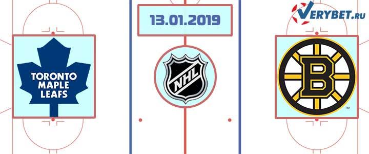 Торонто — Бостон 13 января 2019 прогноз