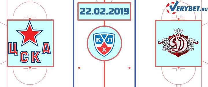 ЦСКА – Динамо Рига 22 февраля 2019 прогноз