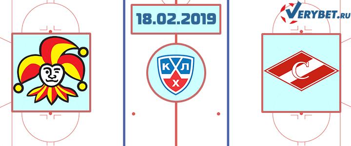 Йокерит — Спартак 18 февраля 2019 прогноз