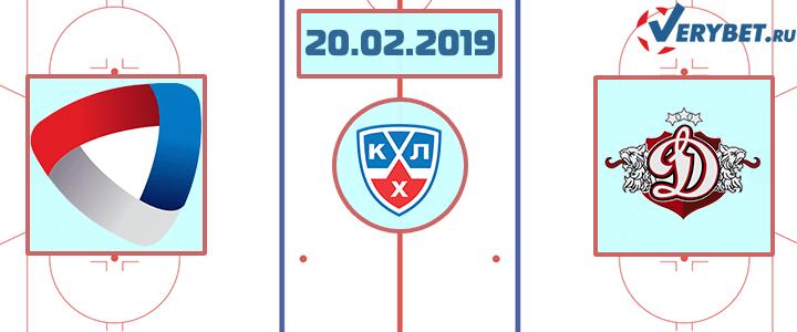Северсталь — Динамо Рига 20 февраля 2019 прогноз