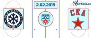 Сибирь – СКА 2 февраля 2019 прогноз