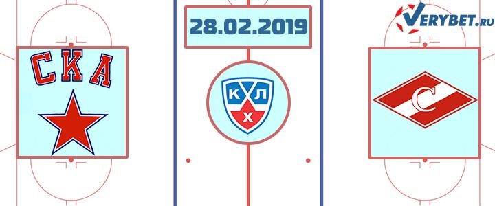 СКА – Спартак 28 февраля 2019 прогноз