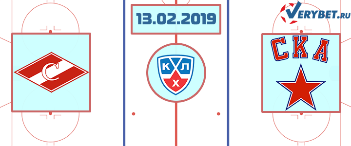 Спартак Москва – СКА 13 февраля 2019 прогноз