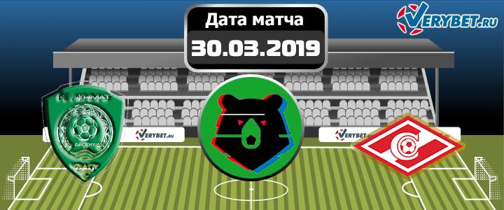 Ахмат – Спартак 30 марта 2019 прогноз
