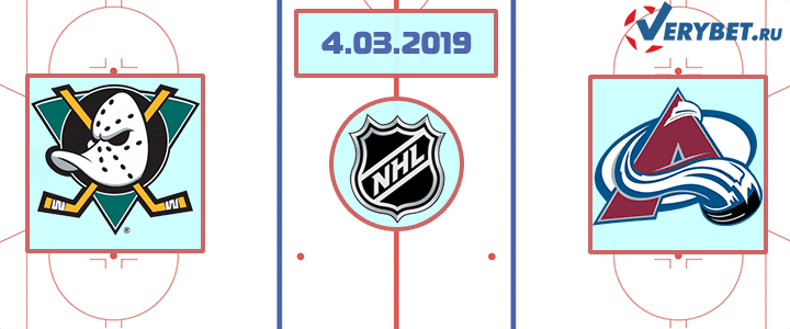 Анахайм – Колорадо 4 марта 2019 прогноз