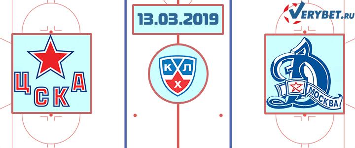 ЦСКА — Динамо Москва 13 марта 2019 прогноз