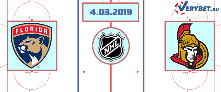 Флорида — Оттава 4 марта 2019 прогноз