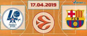 Анадолу Эфес – Барселона 17 апреля 2019 прогноз
