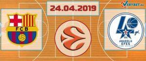 Барселона – Анадолу Эфес 24 апреля 2019 прогноз