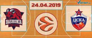 Баскония – ЦСКА 24 апреля 2019 прогноз