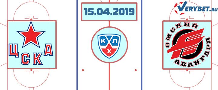 ЦСКА – Авангард 15 апреля 2019 прогноз