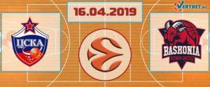 ЦСКА – Баскония 16 апреля 2019 прогноз