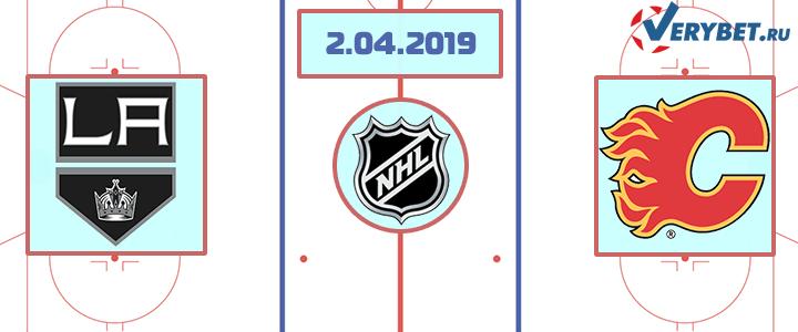 Лос-Анджелес — Калгари 2 апреля 2019 прогноз