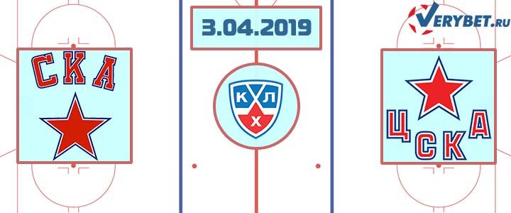СКА – ЦСКА 3 апреля 2019 прогноз