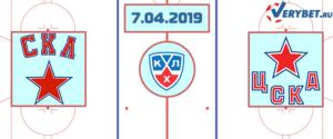 СКА – ЦСКА 7 апреля 2019 прогноз