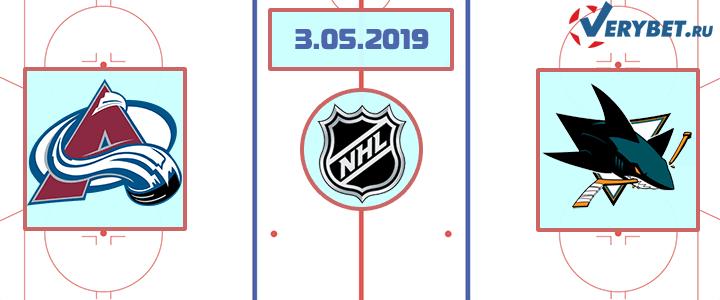 Колорадо — Сан-Хосе 3 мая 2019 прогноз