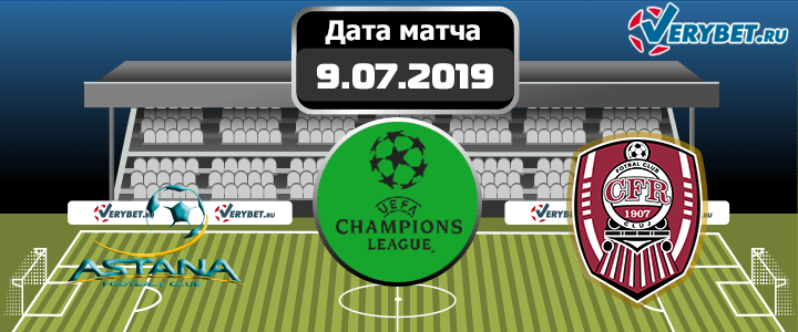 Астана – ЧФР Клуж 9 июля 2019 прогноз