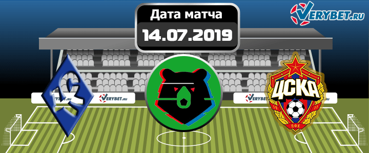 Крылья Советов – ЦСКА 14 июля 2019 прогноз
